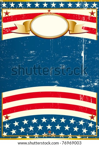 USA Grunge poster A vintage american background for a poster - stock vector