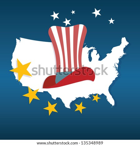 USA Icons collections and concepts. Vector Illustrations - stock vector