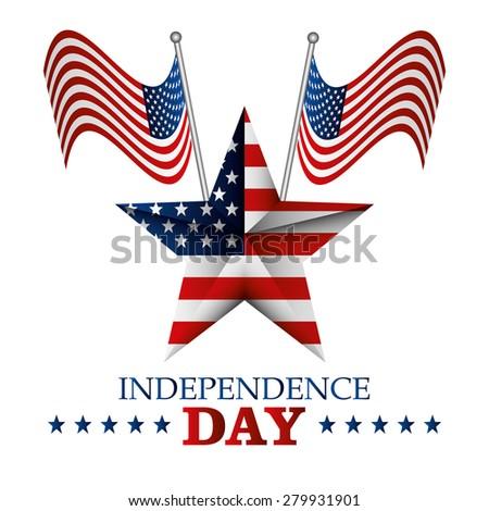 USA independece day card design, vector illustration. - stock vector