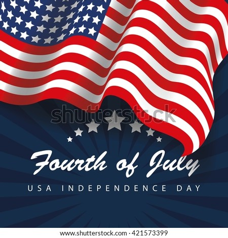 USA independence day - stock vector
