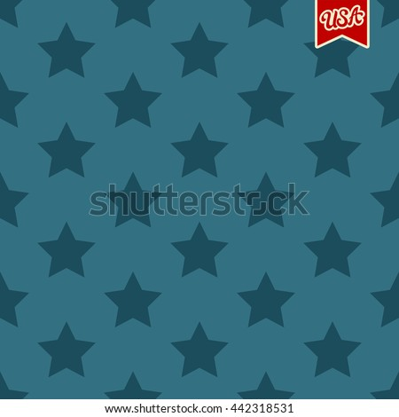USA Independence Day vector seamless pattern with stars