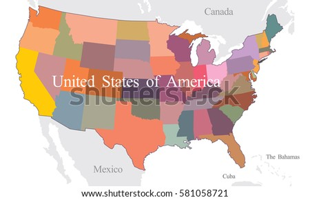 Us Canada Map States Stock Images RoyaltyFree Images Vectors - Us and canada map with states