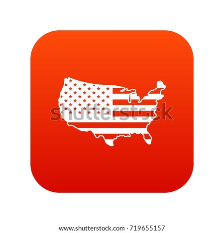 Usa map icon digital red any stock vector 719655157 shutterstock usa map icon digital red for any design isolated on white vector illustration sciox Choice Image
