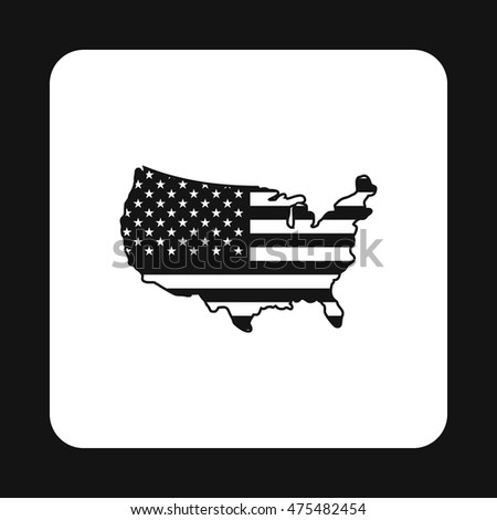 Usa map icon simple style isolated stock vector 475482454 usa map icon in simple style isolated on white background state and territory symbol sciox Choice Image