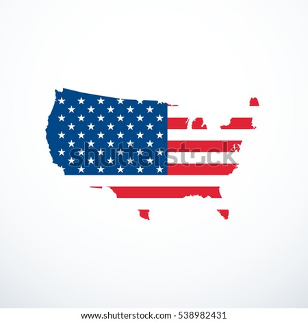 Usa Icon Stock Images RoyaltyFree Images Vectors Shutterstock - Us map icon
