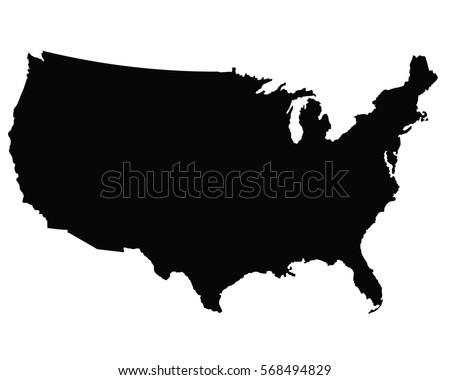 United States Map Outline Stock Images RoyaltyFree Images - Us map outline