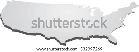Usa Map Perspective Vector