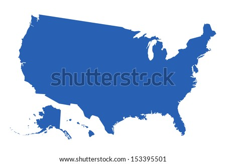 USA Map Vector - stock vector