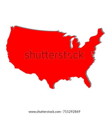 United States Map D Stock Images RoyaltyFree Images Vectors - Blank us map vector