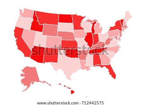 Usa Map Stock Vector Shutterstock - Usa map vector