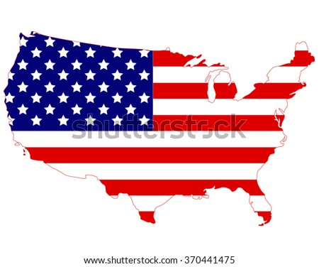 USA Map, vector illustration, isolated.