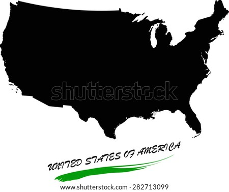 USA map vector in black and white background, United States map outlines in a new creative design - stock vector