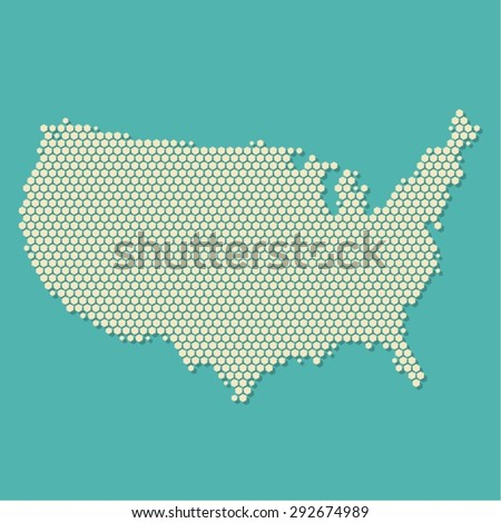 USA Map Vector Modern