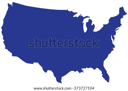Usa Map Vectorunited States America Map Stock Vector 373727104