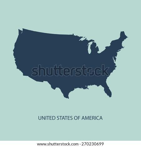 Usa Map Vector Us Map Vector Stock Vector Shutterstock - Us map vector