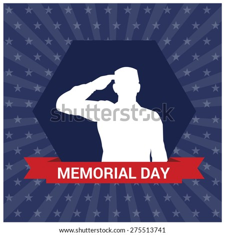 USA memorial day design over blue background, vector illustration - stock vector