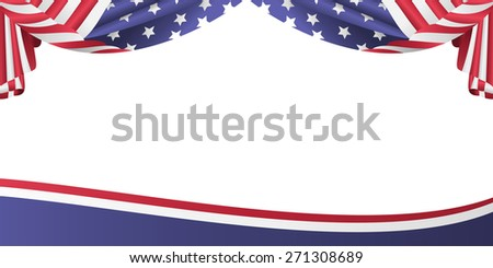 USA patriotic flag bunting banner - stock vector
