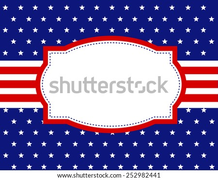 USA patriotic 4th of july design background / frame - stock vector