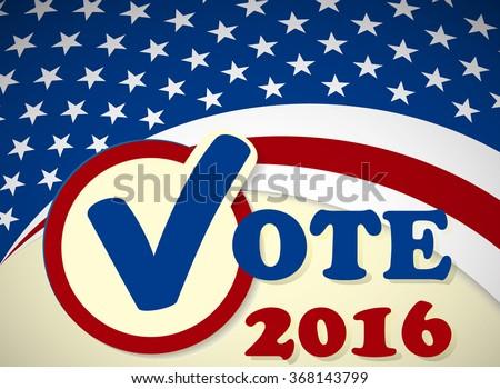 USA 2016 Presidential Election - template - stock vector