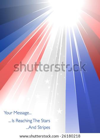 USA ray of lights - stock vector