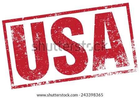 usa rubber stamp - stock vector