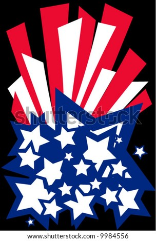 usa stars and stripes - stock vector