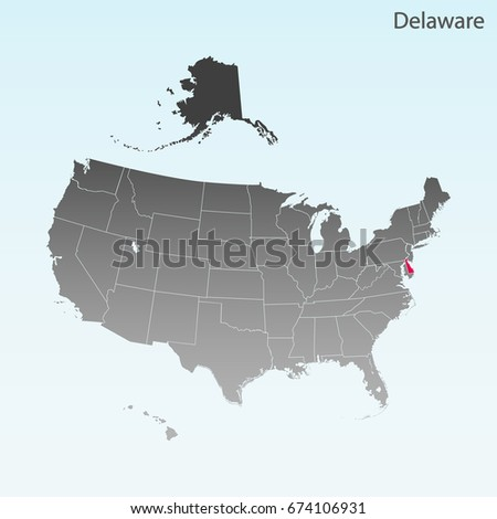 Details Delaware Map Diamond Background Stock Vector - Delaware usa map
