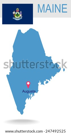 Stock Images Similar To ID 64994653  Maine State Flag Of