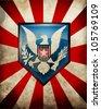 USA symbol background eps10 - stock vector