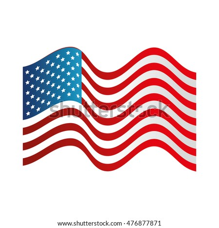 usa symbol flag isolated design