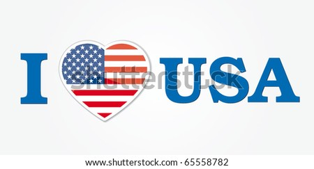 usa vector illustration - stock vector