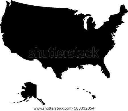 usa vector map stock vector hd royalty free 183332054 shutterstock