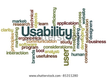 Usability Word Cloud - stock vector