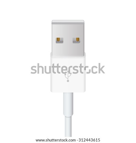 Usb-cable vector illustration in white background - stock vector