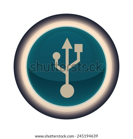 usb connection design, vector illustration eps10 graphic  - stock vector