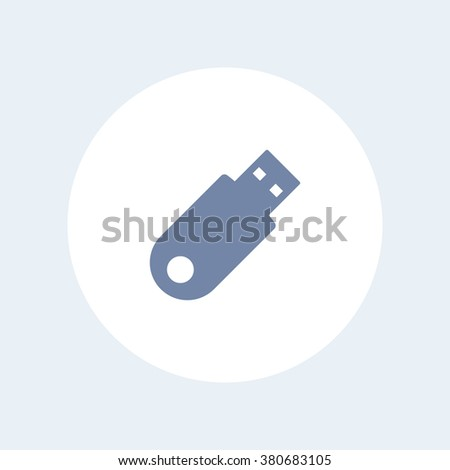 usb flash drive isolated icon, data backup icon, vector illustration - stock vector