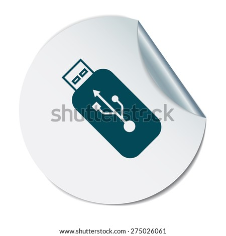usb flash icon disk. vector icon - stock vector