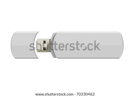 Usb flash memory isolated on the white background - stock vector