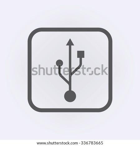 Usb icon. Vector illustration - stock vector