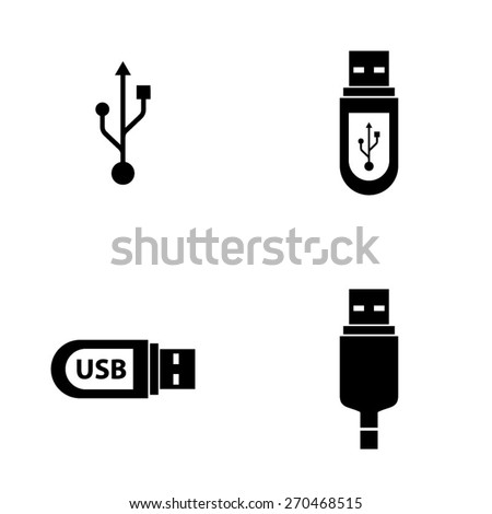 USB icons - stock vector
