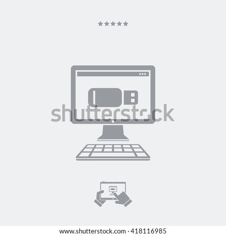 Usb memory flat icon - stock vector