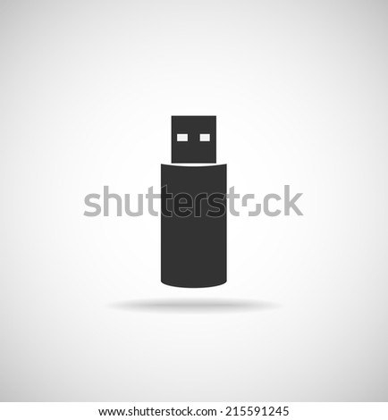 Usb memory stick icon - stock vector