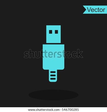 Usb plug vector icon.