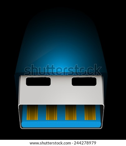 usb wire abstract vector illustration eps 10 \ usb wire - stock vector