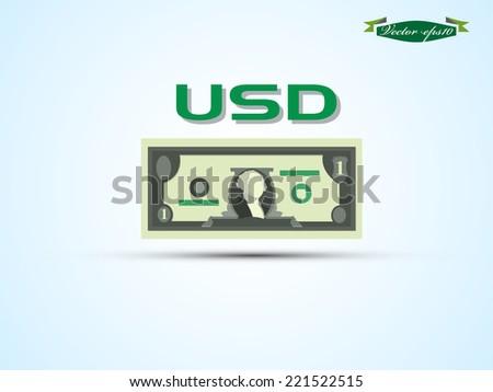 USD vector - stock vector