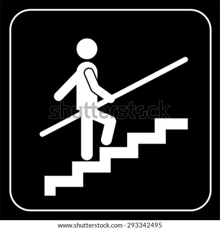 Use Handrail sign, vector - stock vector
