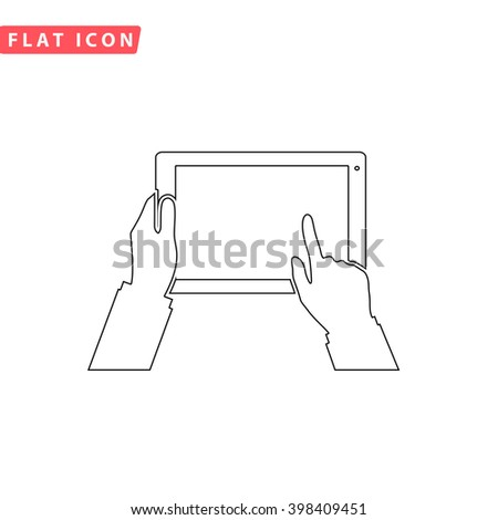 Use Tablet Icon Vector.