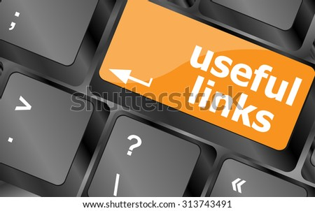 useful links keyboard button - business concept, vector illustration - stock vector