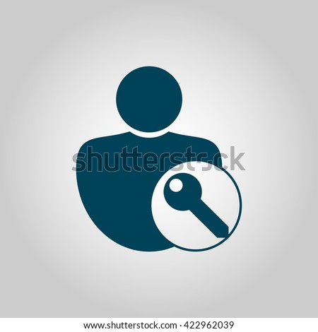 user access icon, user access symbol, user access vector, user access eps, user access image, user access logo, user access flat, user access art design, user access grey - stock vector