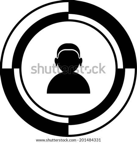 User button mosaic - stock vector